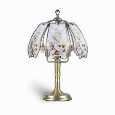 ORE International Touch Lamp Desk Table Light Shade Hummingbird Brushed Gold