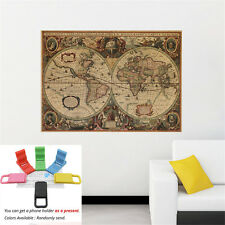 Removable New World Map Wall Poster Art Vinyl Mural sticker Home Decal + GIFT