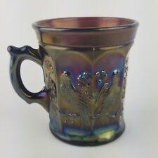Northwood Carnival Glass Purple Singing Birds Mug