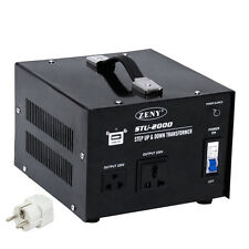 STU-2000 Step Up Voltage Converter Transformer AC Only 110V To 220V 2000 Watt