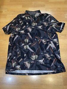 Ted Baker london 5 leaf mens grey polo shirt