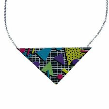 80's Motif Triangle Collier Par Amour Boutique