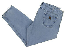 Carhartt Blue Jeans 46x30 B18 STW Traditional Straight Stonewashed Cotton Denim