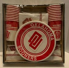 Vintage OU Oklahoma Sooners Plate Cup and Napkin set NEW and Sealed