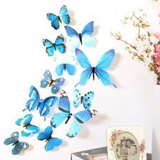 12pcs 3D Effect Crystal Butterflies Wall Sticker for Room Wall Decoration