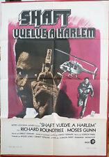SHAFT'S BIG SCORE movie poster Spanish RARE 72 Blaxploitation Richard Roundtree