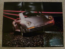 1985 Porsche 959 Poster (Folded version) RARE!! RARITÄT Awesome L@@K German L@@K