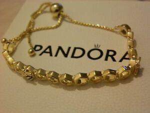 Brand New Genuine PANDORA Gold SHINE HONEYBEE Bracelet S925 ALE