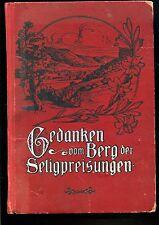 Gedanken vom Berg der Seligpreisungen-- von 1917 -