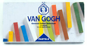 Van Gogh Pastels 12 Colors Set 60mm x 8mm x 8mm Made in Holland