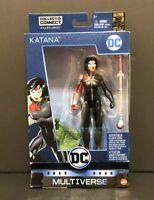 "DC Multiverse Rebirth Katana 6"" Figure & Killer Croc CNC~Batman 80th Anniversary"