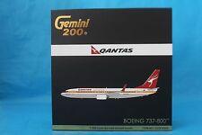 """Gemini Jets 1:200 Qantas Boeing 737-800 VH-XZP """"Retro Roo"""" G2QFA524 Model Plane"""
