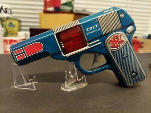 Haji Japan Tin Litho Friction Sparking Action Gun Works