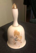 Precious Moments Love Is Kind Bell by Enesco 1978 Jonathan and David 1423