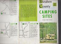 Steuben County New York Camping Sites Brochure 1960s