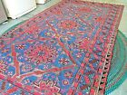 Russian Somak Wool Rug Red/Blue - home update! Vintage Great Condition 6x11