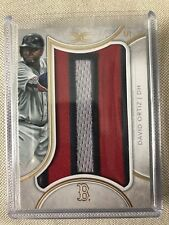 """2018 TOPPS DEFINITIVE NAMEPLATE DAVID ORTIZ LETTER PATCH """"O"""" 1/1 BOSTON RED SOX"""