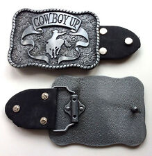 Cow Boy Up-Western Solid Belt Buckle-Horse Riding-Bull Fighter Rodeo-Unisex.
