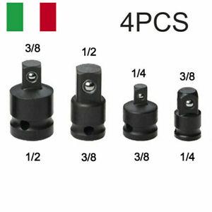 4x 1/4 3/8 1/2 Chiave a Bussola Adattatore Converter Cricchetto Riduttore Kit
