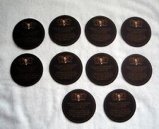 10 DOS EQUIS XX Cervezas Beer COASTERS 2 Sayings THE MOST INTERESTING MAN