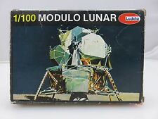 Lodela MODULO LUNAR Module 1/100 Scale Plastic Model Kit Started Vintage Spanish