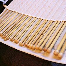 Lot 16 pr crochet bambou aiguille à tricoter crocheter tricot laine hook 2-12