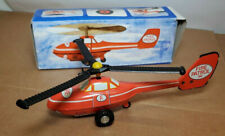 POLICE FIRE PATROL TIN METAL TOY FRICTION HELICOPTER GERMANY GDR Fire #1