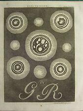 1797 impresión georgiano diagramas de electricidad ~ ~