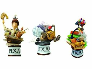 Disney Pixar Square Enix Formation Arts Set Ratatouille, Up And Wall-E LOOSE