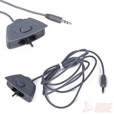 Gray Controller Headset Replacement Adapter Cable Cord for Microsoft Xbox 360