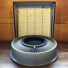 Vintage AIREQUIPT 80 Rotary SLIDE TRAY for KODAK Carousel Slide Projector w/BOX
