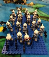 21 Pcs Star Wars Minifigures Clone Trooper Blue Commander Captain Rex Lego MOC