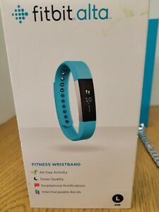 Fitbit Alta Activity Tracker Fitness Wristband FB406BLK Teal Size - Large