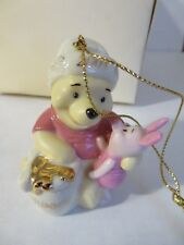 LENOX annual POOH ORNAMENT for 2001  w/COA a Honey of a Holiday PIGLET  MINT