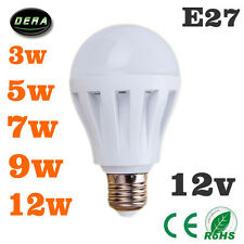 E27 Energy Saving LED Bulbs Lamp Home Camp Solar Hunting Emergency Light DC 12V