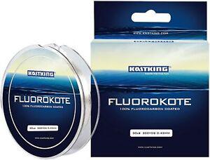KastKing FluoroKote Fishing Line - 100% 15LB(6.8KG) 0.33mm-300Yard, Clear