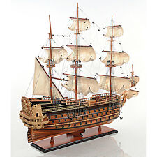 "Saint Esprit French Wooden Model 33"" Tall Ship Sailboat Fully Built Boat New"