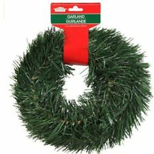 Christmas House 15 FT Wired Holiday Green Pine Garland Decor Indoor/Outdoor