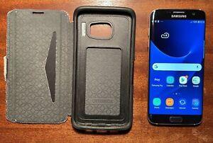 Samsung Galaxy S7 edge - 32GB - Blue - (Unlocked) - 128GB micro SD card