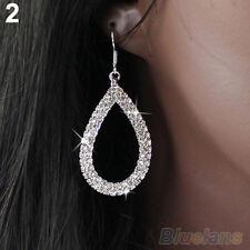 All Match Club Party Crystal Teardrop Dangle Earrings Rhinestone Drop Ear Studs