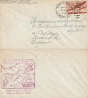 US 1946 PAN AM COMMERCIAL FLOWN COVER NEW YORK TO LONDON ENGLAND
