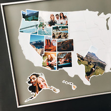 "USA 50 States Photo Map - United States Travel Picture Collage Poster - 24""x36"""