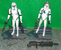 Star Wars Clone Wars 501st Clone Trooper HARDCASE + ECHO Lot - Used