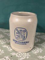 Vintage Lowenbrau Munchen German Stoneware Beer Stein Mug .5 Liter!