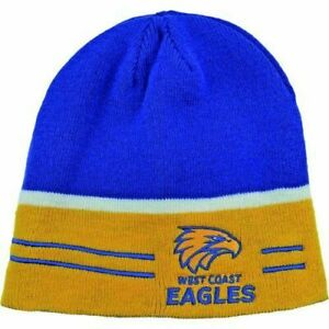 AFL West Coast Eagles Reversible Beanie NEW STYLE Brand New