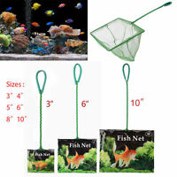 "Aquarium Modern Fish Tank 3"" 4"" 5"" 6"" 8"" 10"" Green Fish Net Cold Water Scoop Set"