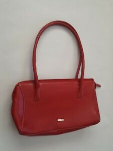 Pure Women's Red Small Zip Up Faux leather Handbag