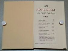 VINTAGE BOOK.1955. BOOTS HOME DIARY & FAMILY NOTE BOOK.204 PAGE'S.PROP.DISPLAY.