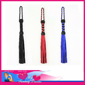 46cm Bondage Whips Spankers Floggers Crops Genuine Suede Leather BDSM Fashions