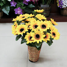 1 Bouquet 7 Heads Artifical Sunflower Cloth Wedding Fake Flower Posy Home Flower
